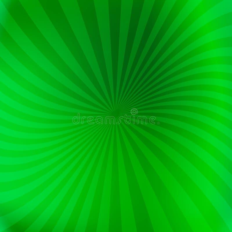 Fond vert avec les faisceaux légèrement de tourbillonnement illustration libre de droits