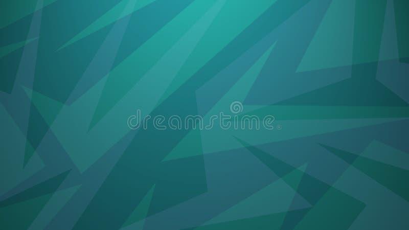Fond vert bleu dans la conception abstraite de style d'art moderne avec des couches des angles aléatoires et de la ligne modèle illustration libre de droits