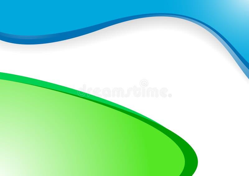 Fond vert-bleu de vecteur illustration de vecteur