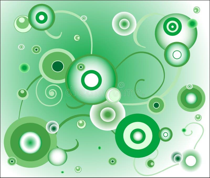 Fond vert (cercle) illustration de vecteur