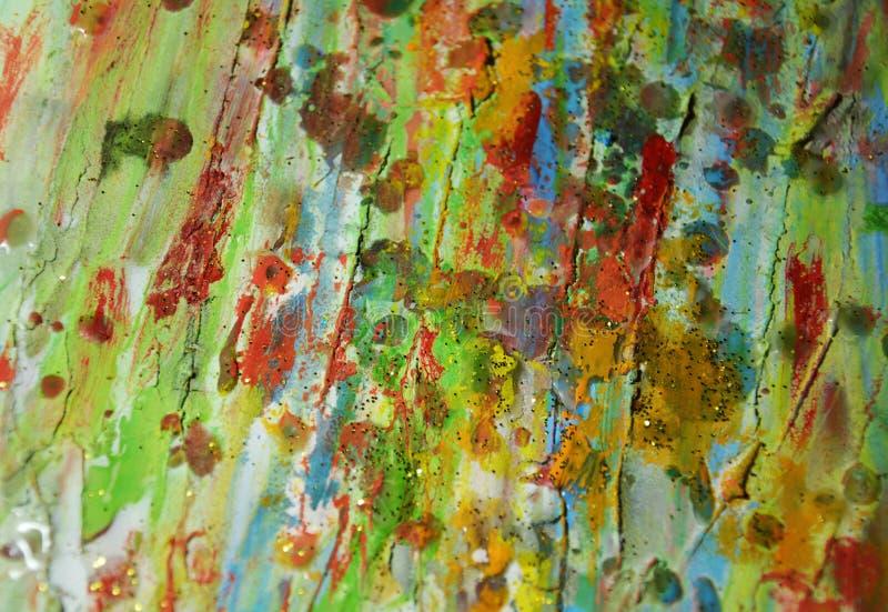 Fond vert cireux boueux d'abrégé sur peinture images stock