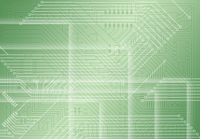 Fond vert clair électronique industriel illustration stock