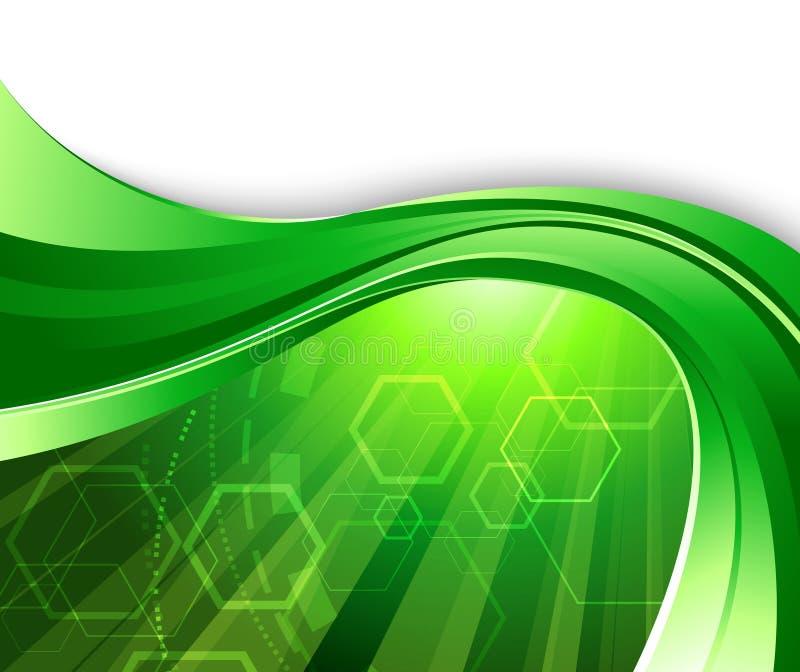 Fond vert clair de technologie illustration de vecteur