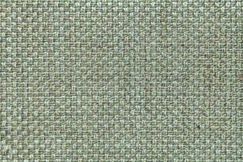 Fond vert clair de textile avec le modèle à carreaux, plan rapproché Structure du macro de tissu images libres de droits