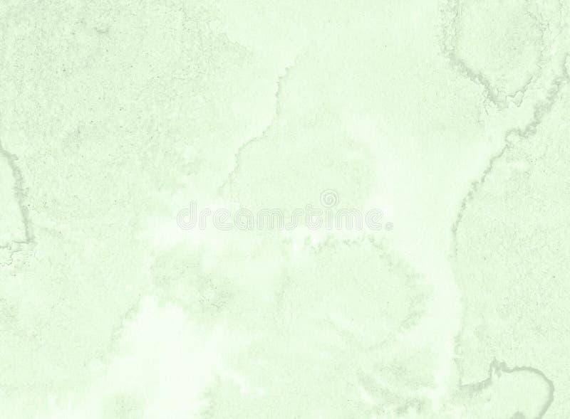 Fond vert clair en pastel d'abrégé sur aquarelle, tache, éclaboussure de peinture, tache, divorce illustration de vecteur