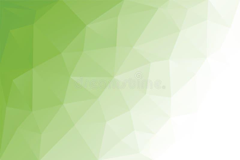 Fond vert clair géométrique de triangle abstraite, illustration de vecteur Conception polygonale photos stock