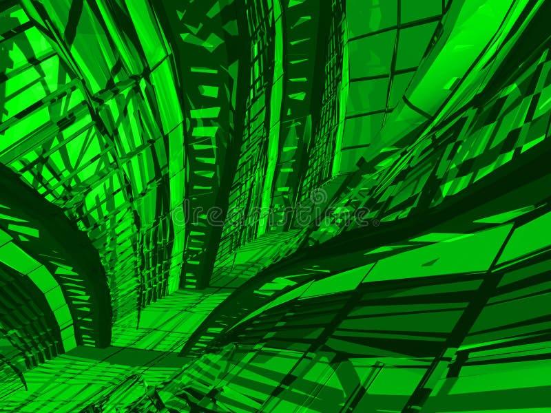 Fond vert décoratif illustration libre de droits
