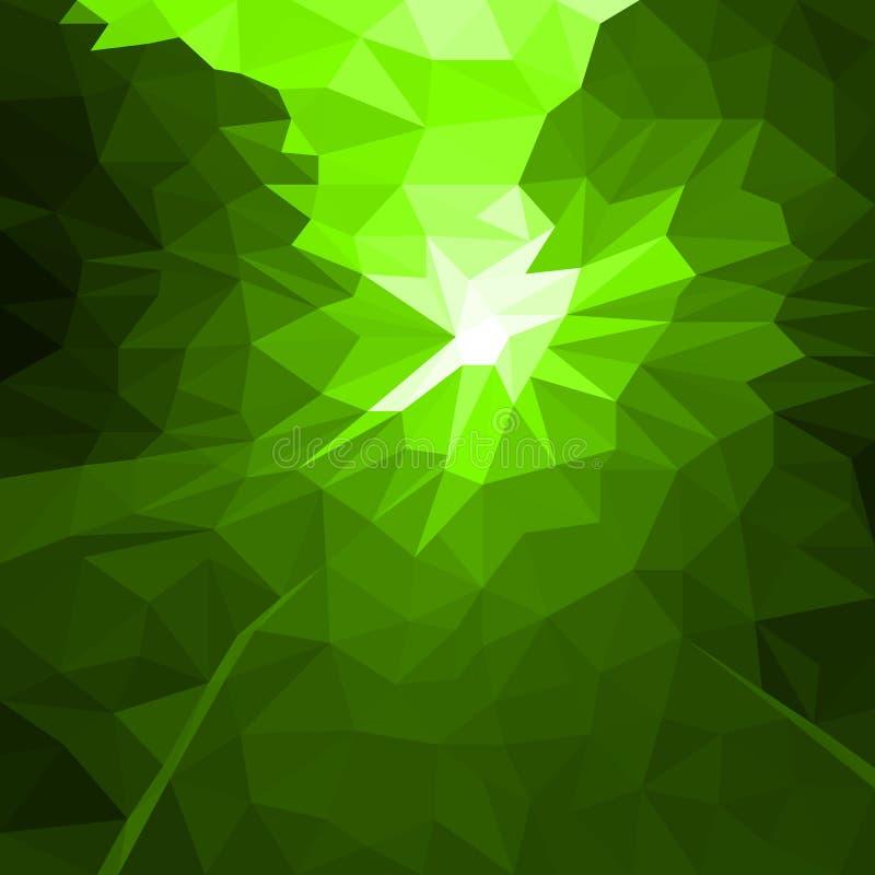 Fond vert d'abrégé sur vecteur d'instantané ou de léger illustration stock