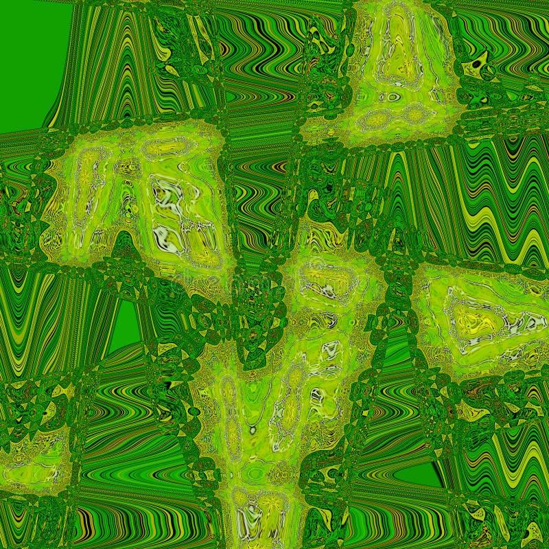 Fond vert d'abrégé sur zigzag pour la bannière ou la carte illustration libre de droits