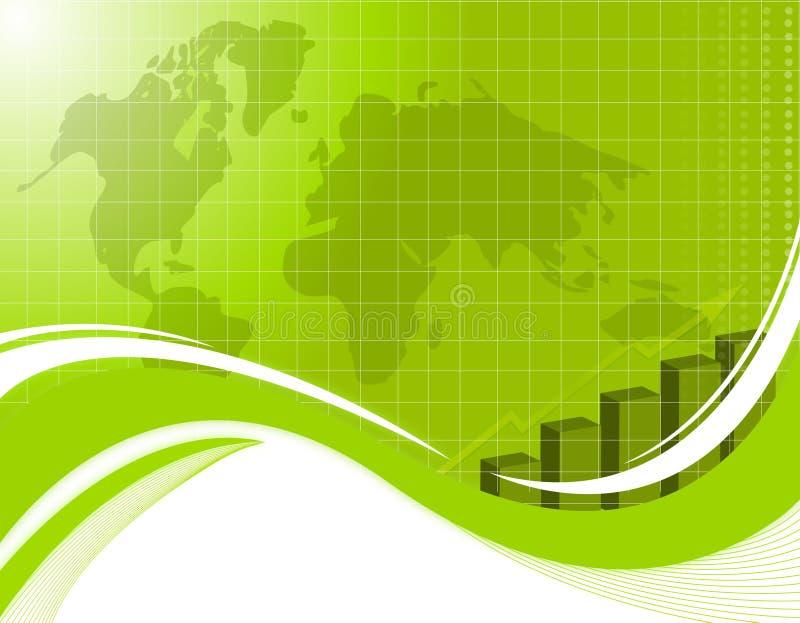 Fond vert d'affaires illustration stock