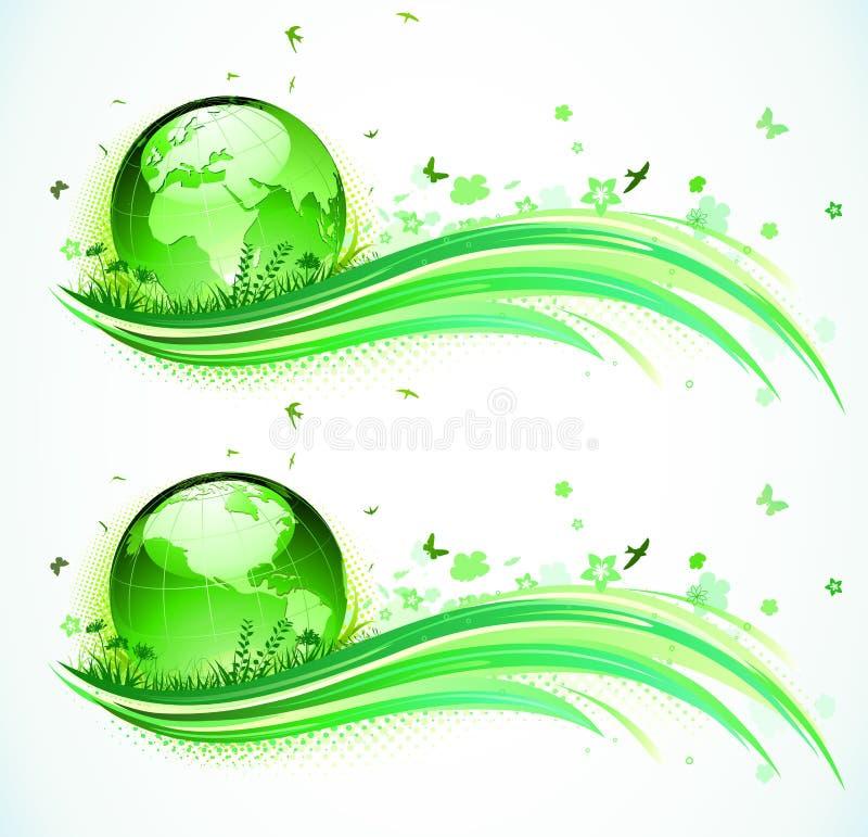 Fond vert d'Eco illustration stock