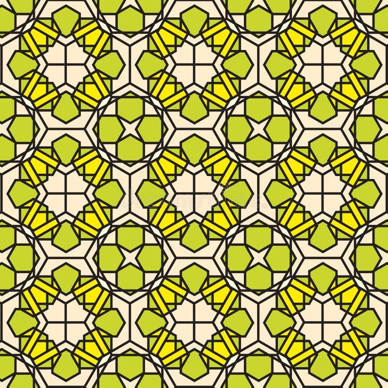 Fond vert de configuration en verre souillé de mosaïque illustration libre de droits