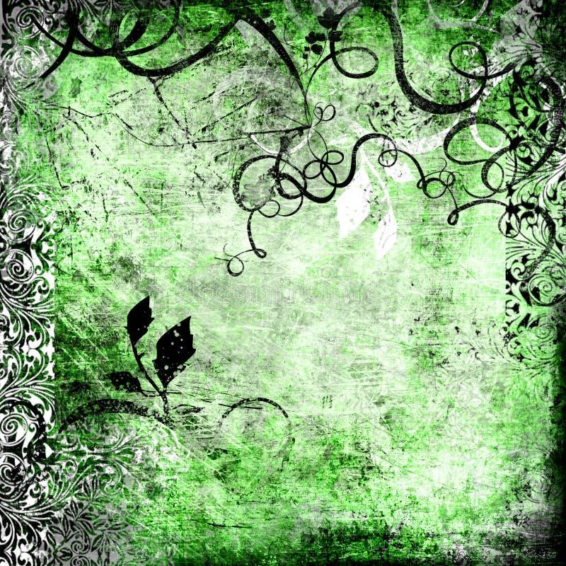 Fond vert de cru illustration stock