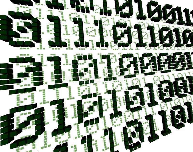 Fond vert de Digitals 3D illustration de vecteur