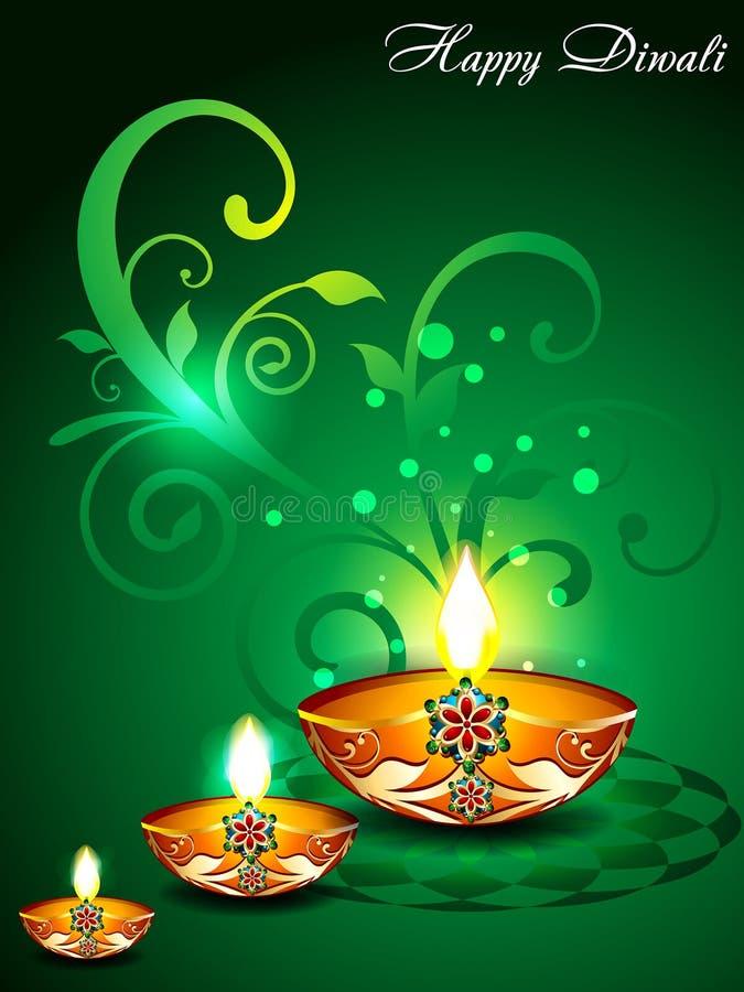 Fond vert de Diwali avec floral