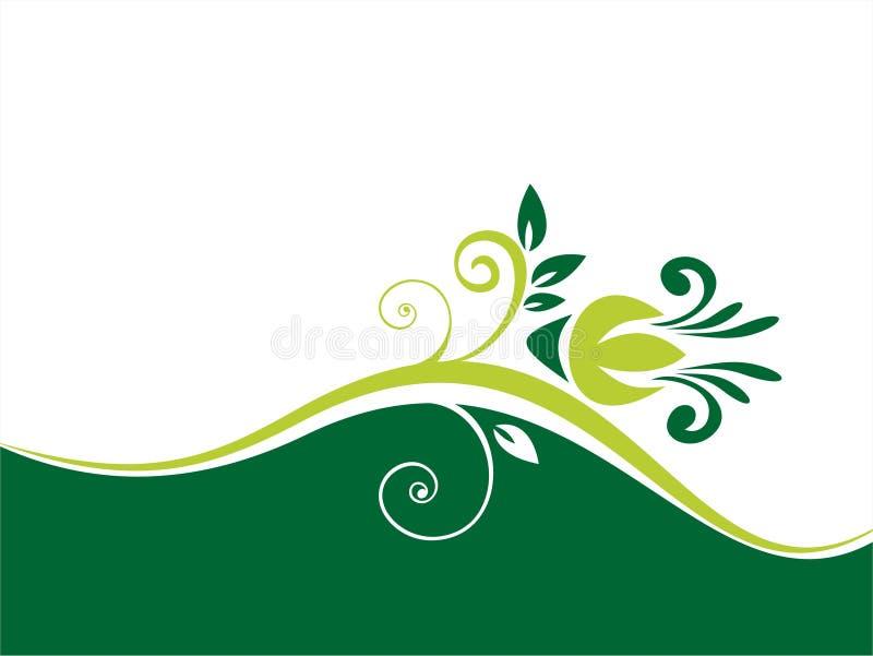 Fond vert de fleur illustration stock