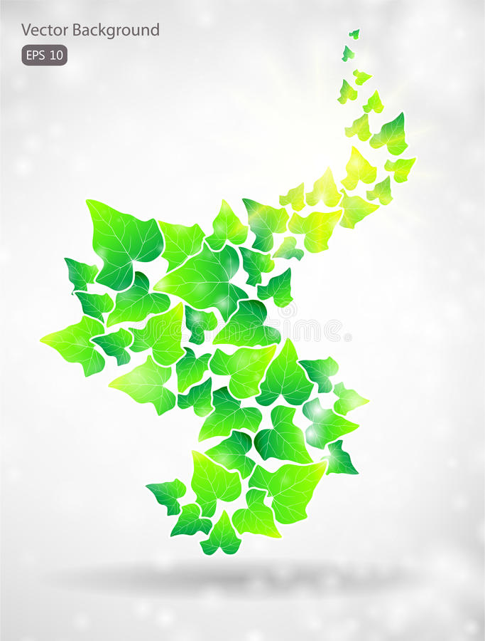 Fond vert de lame de vecteur illustration stock