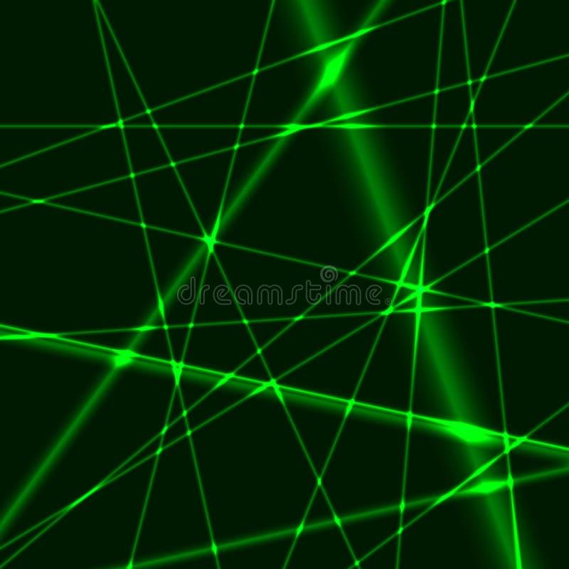 Fond vert de laser illustration stock