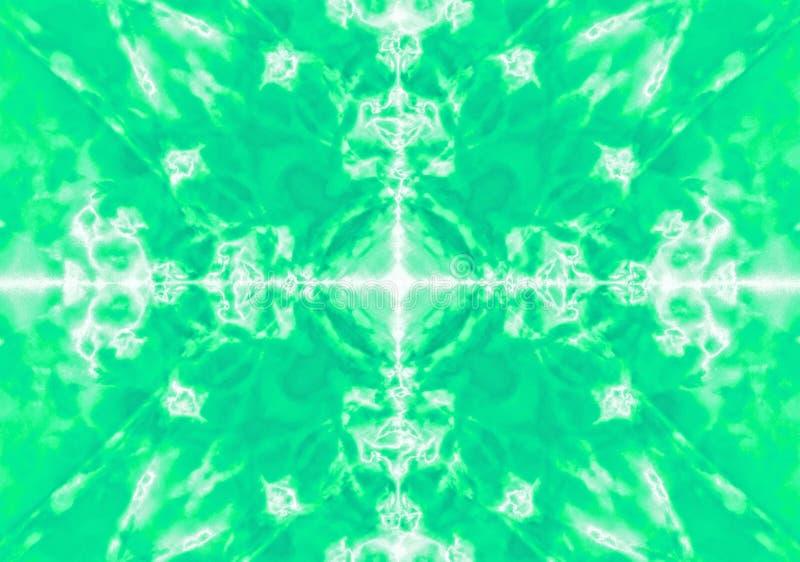 Fond vert de modèle de kaléidoscope illustration libre de droits