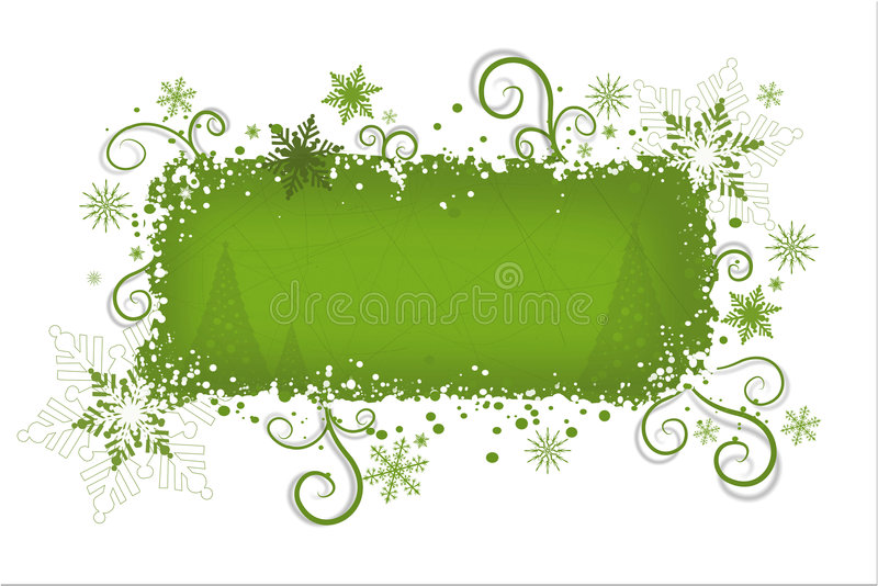 Fond vert de Noël   illustration stock
