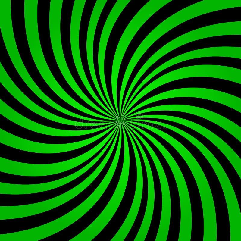 Fond vert de rayons d'arc-en-ciel Vecteur eps10 de fond d'éclat de couleur verte Fond vert et noir de rayons illustration libre de droits