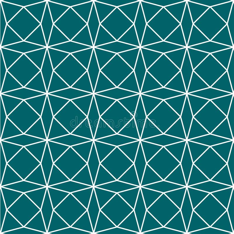 Fond vert de Teal Geometric Paper Pattern Seamless Illustration de vecteur illustration stock