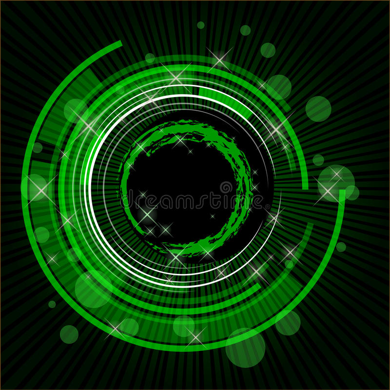 Fond vert de technologie illustration de vecteur