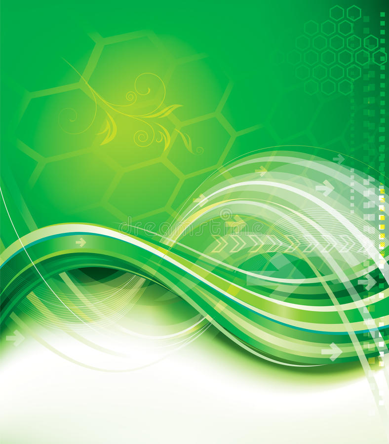 Fond vert de technologie illustration stock