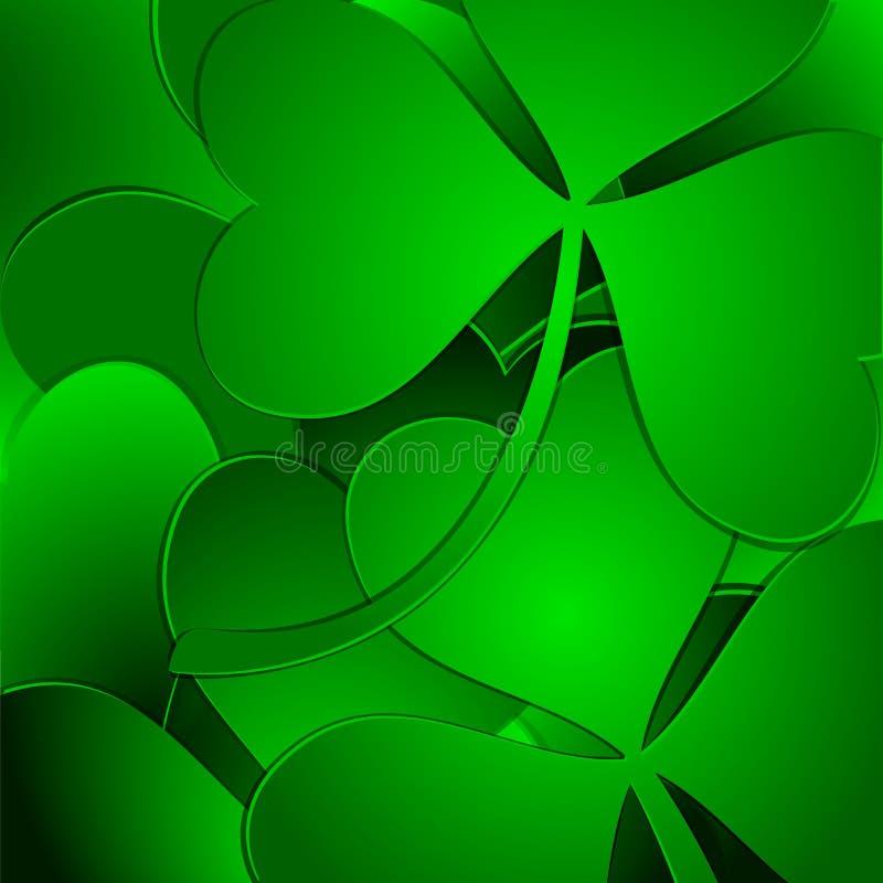 Fond vert de trèfle illustration libre de droits