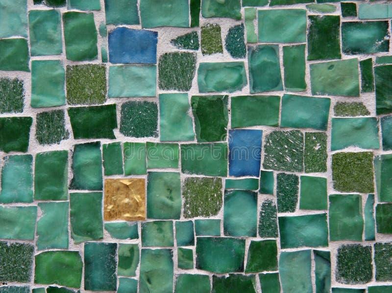 Fond vert de tuile images stock