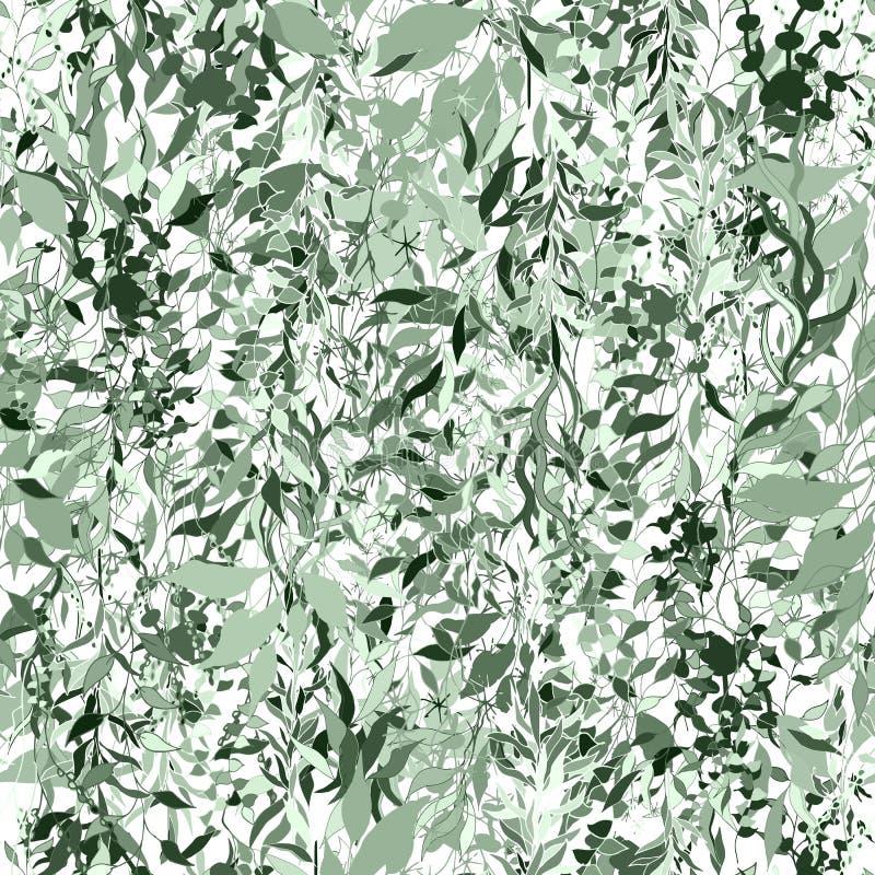 Fond vert des usines et des feuilles Usines s'?levantes Texture de cru pour le tissu, tuile, papier peint Texture croissante sans illustration libre de droits