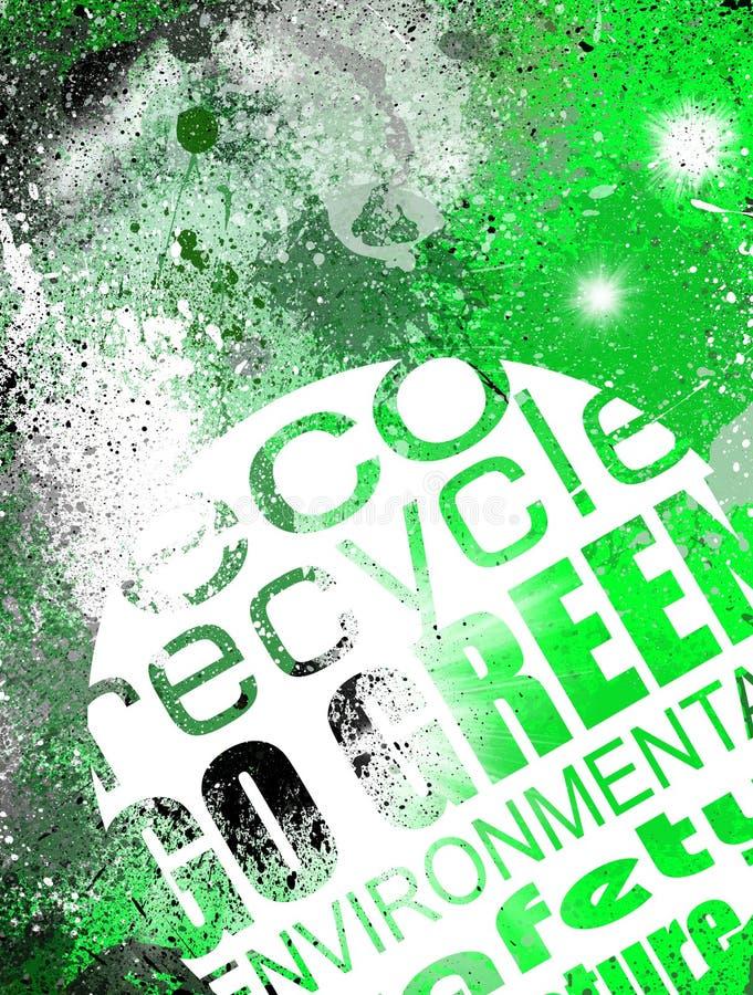 Fond vert environnemental grunge illustration de vecteur