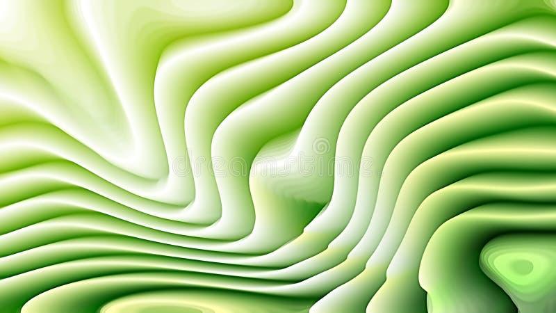 Fond vert et blanc d'ondulation de courbure illustration libre de droits