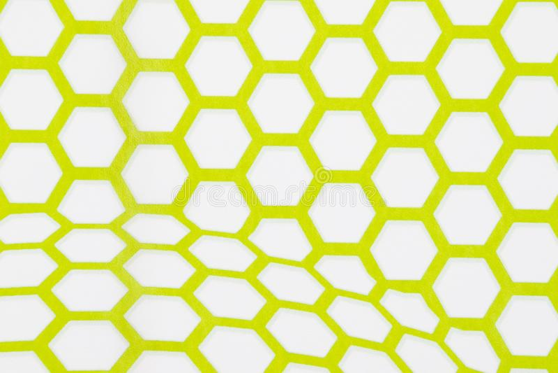 Fond Vert Et Blanc De Papier Peint D\'hexagone Illustration Stock ...
