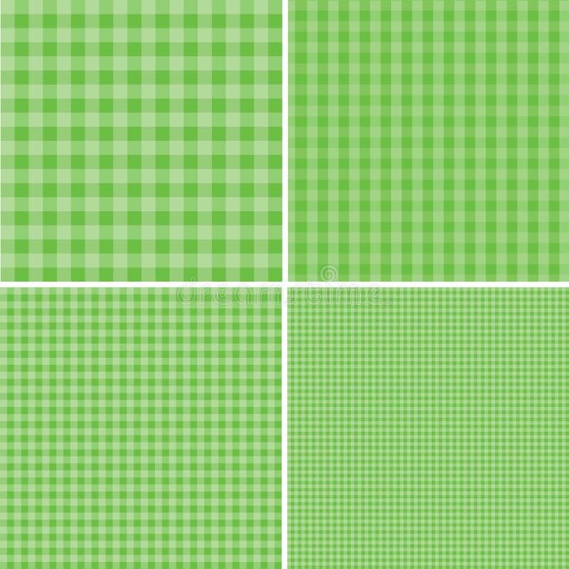 Fond vert et blanc pour des pique-niques ENV 10 illustration de vecteur