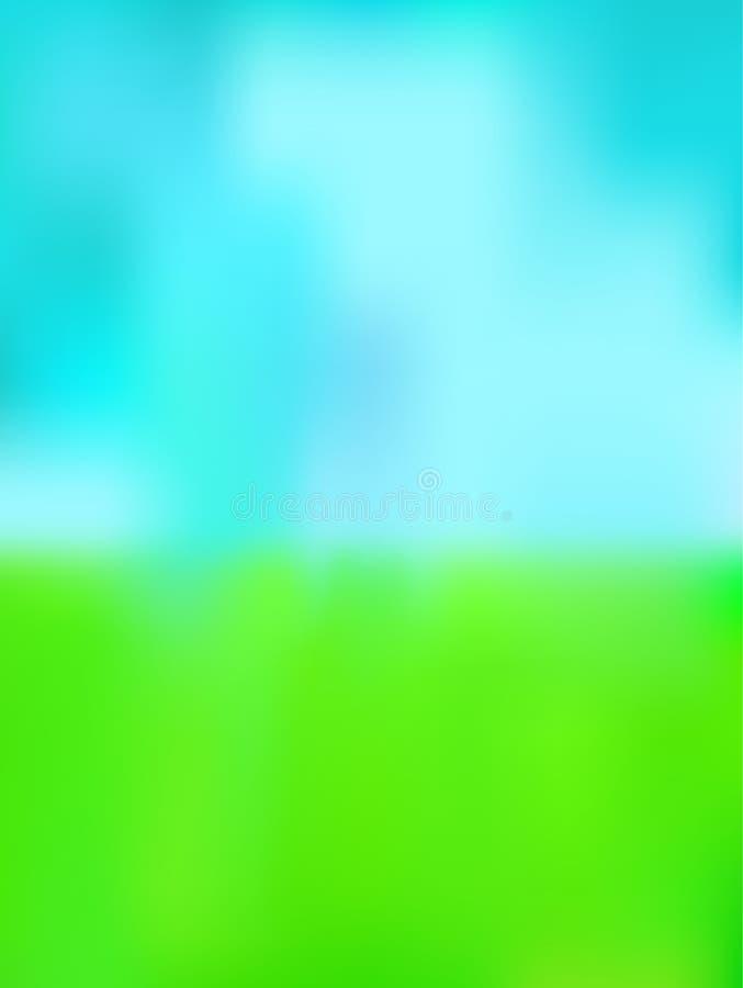 Fond vert et bleu illustration stock