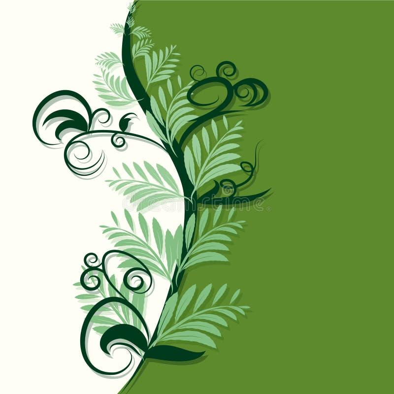 Fond vert et en ivoire abstrait illustration de vecteur