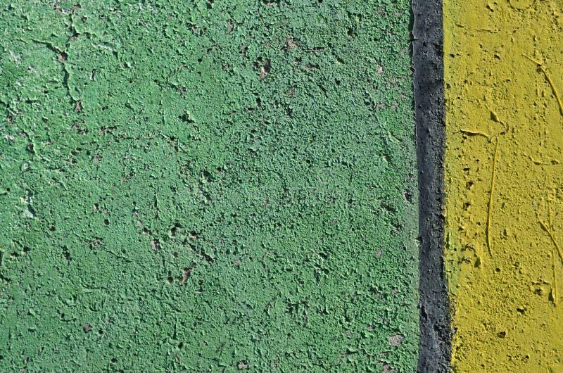 Fond vert et jaune de peinture photographie stock libre de droits
