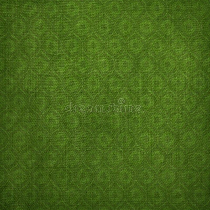 Fond vert grunge avec l'ornement antique illustration libre de droits