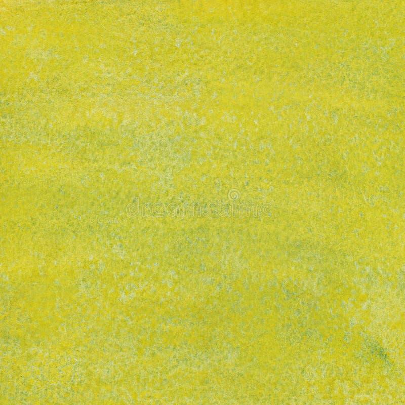 Fond vert jaunâtre d'aquarelle image stock