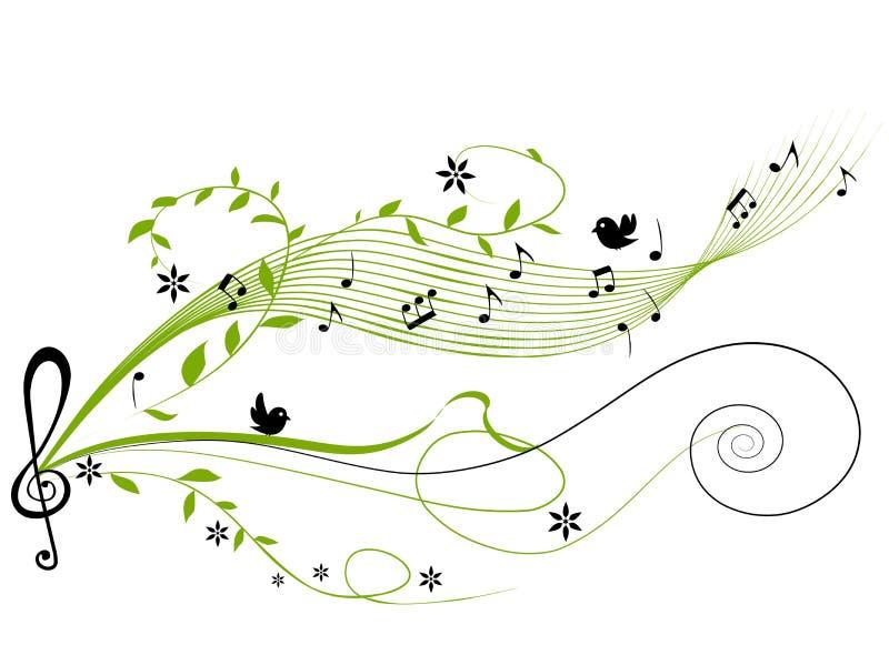 Fond vert musical illustration libre de droits