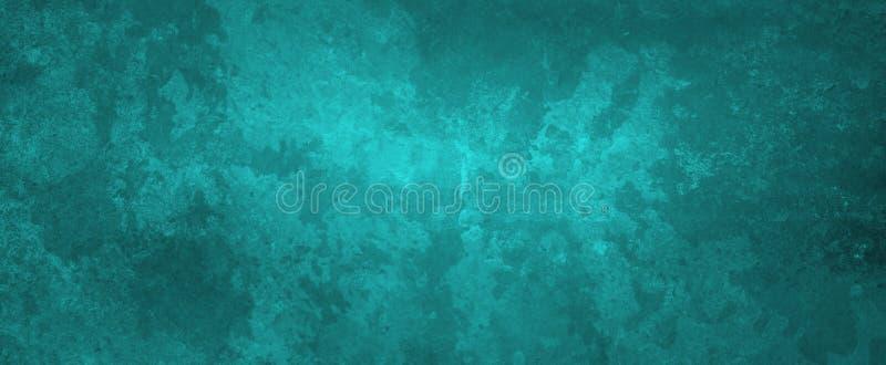 Fond vert noir et bleu avec la texture de cru et grunge dans une conception chique élégante de bannière image libre de droits