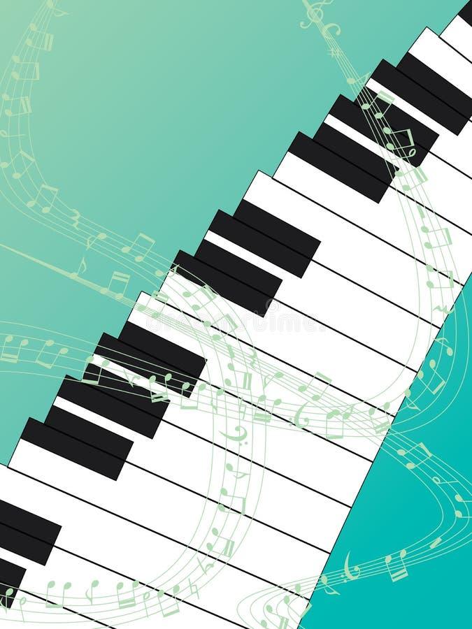 Fond vert supérieur de piano illustration libre de droits