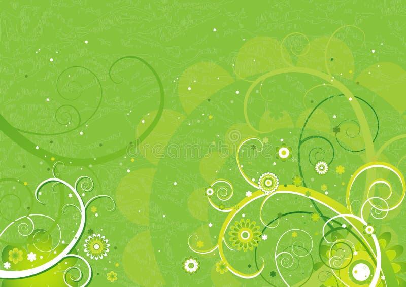 Fond vert, vecteur   illustration stock