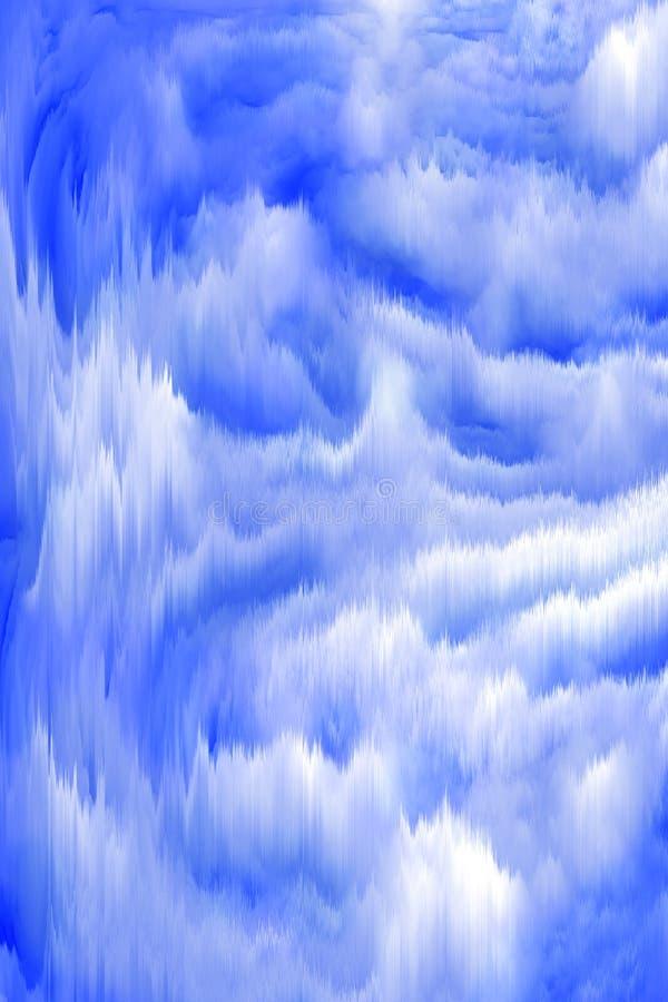 Fond vertical abstrait bleu avec la texture illustration de vecteur