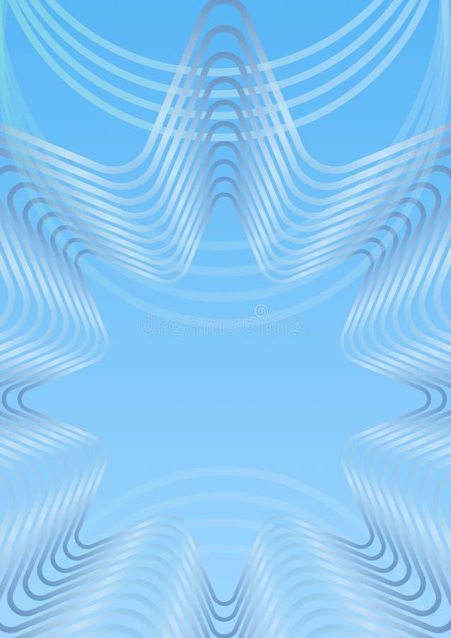 Fond vertical abstrait bleu-clair avec le gradient de ligne élément d'étoile, blanc et bleu, conception simplement élégante d'hiv illustration stock