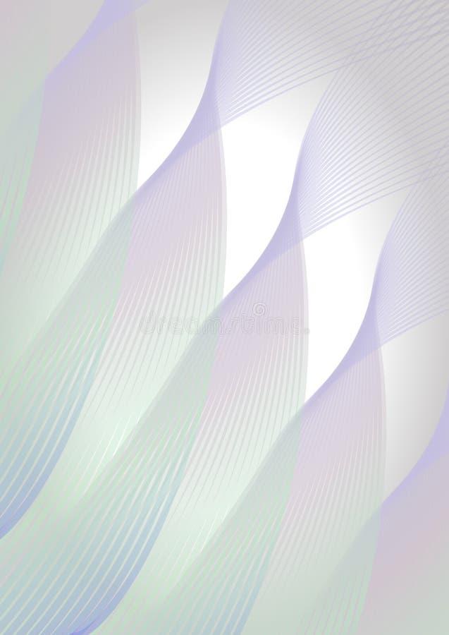 Fond vertical abstrait dans des couleurs en pastel douces, ligne formes onduleuse diagonale illustration stock