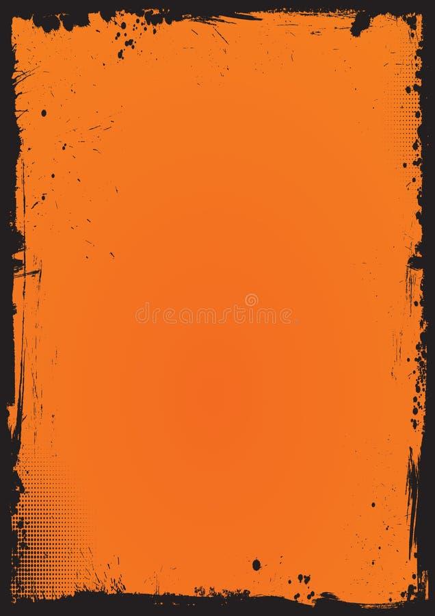 Fond vertical de Halloween avec la frontière grunge illustration stock