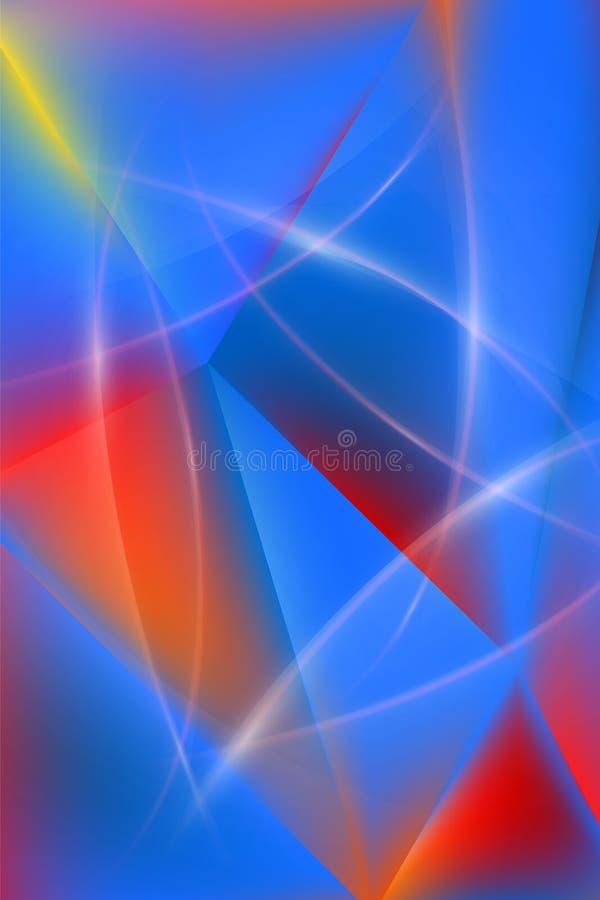 Fond vertical multicolore de résumé illustration libre de droits