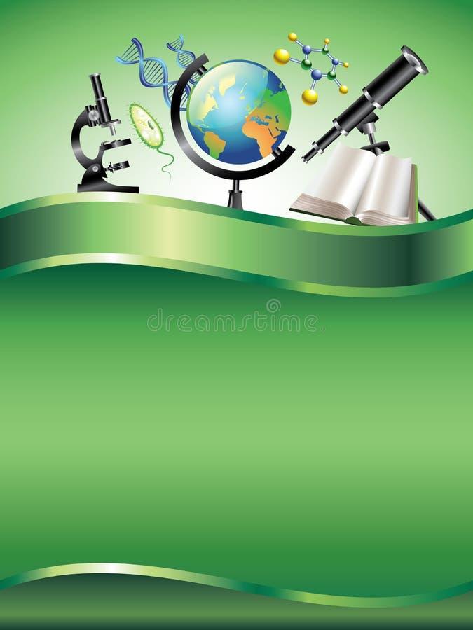 Fond vertical scientifique illustration stock